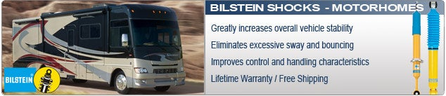 Bilstein Shock Absorbers for Motorhomes and RVs