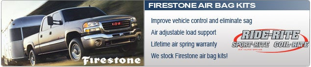 Firestone Air Bags and Air Spring Kits