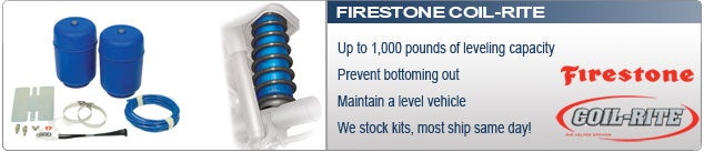 Firestone Coil Rite Air Springs for Coil Spring Suspensions