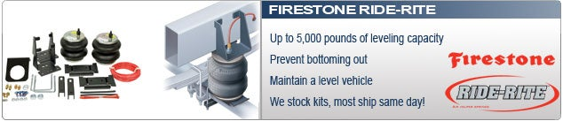 Firestone Ride-Rite Air Helper Springs for Leaf Spring Suspensions