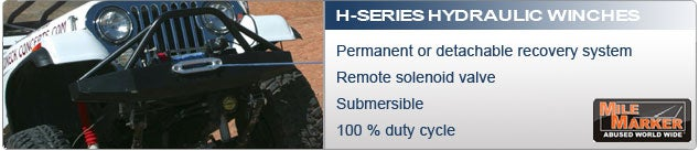 Mile Marker H Series Hydraulic Winch