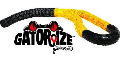 This Bubba rope comes Gatorzied yellow.