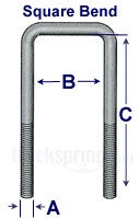 Square U-Bolt Kit – Grade 8 - 5/8 x 2-9/16 x 12-3/8 8-1014K