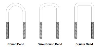 type of ubolt bends