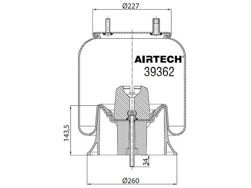 39362kpp airtech air spring replaces firestone w01