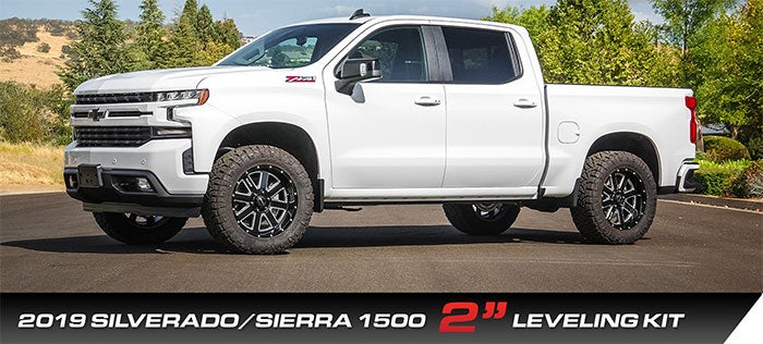 2019 Silverado 1500, 2019 Sierra 1500 with 2 inch leveling kit