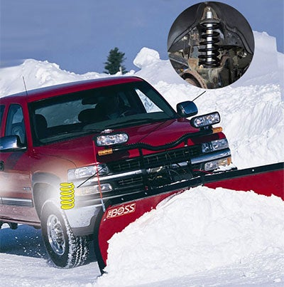 coils springs for snow plowing