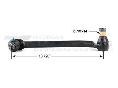 Freightliner Drag Link - 18.72 Inches DS1340