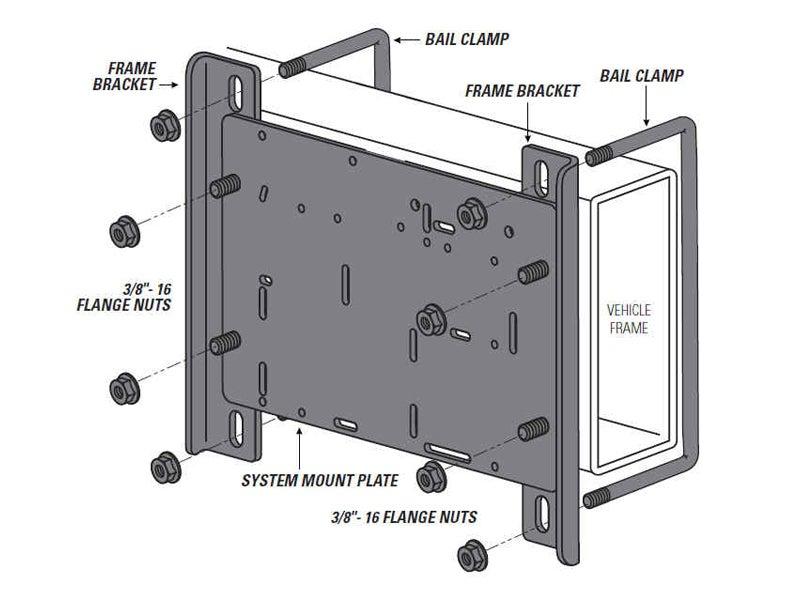 2588 firestone air compressor mounting bracket kit 2581 2589