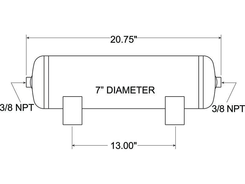 Air tank schematics free vehicle wiring diagrams 9229 firestone air tank 3 gallon rh truckspring com gas tank diagram well pressure tank piping fandeluxe Gallery