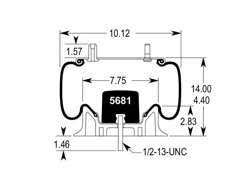 w01 358 8204 firestone airide air spring 1t15m 2 rh truckspring com Airbag Electrical Diagram Voltage Regulator Schematic Diagram
