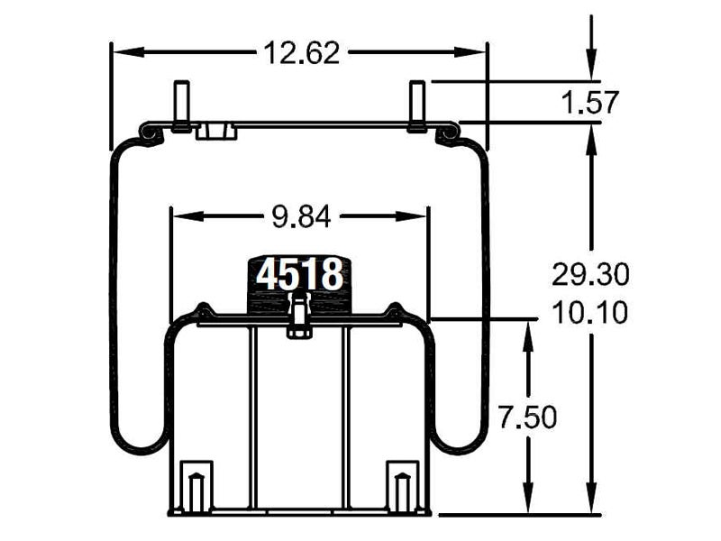 w01 358 8984 firestone airide air spring 1t66e 11 8 rh truckspring com Airbag Electrical Diagram Voltage Regulator Schematic Diagram