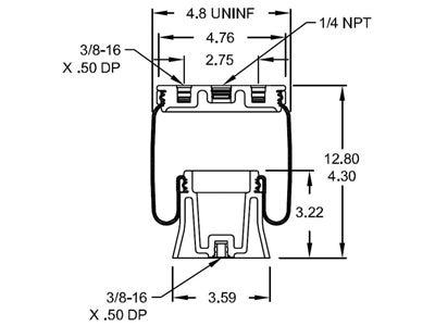 Firestone tapered sleeve air bag W21-760-9001 schematic diagram