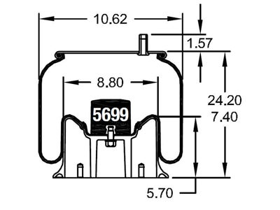 Firestone Reversible Sleeve Air Spring - W01-358-9581