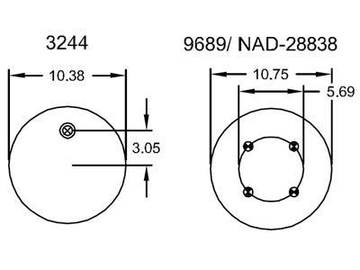 Firestone Reversible Sleeve Air Spring W01-358-9581