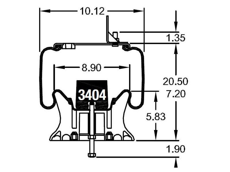 Firestone Airide Air Spring | Reversible Sleeve | 1T15M-6