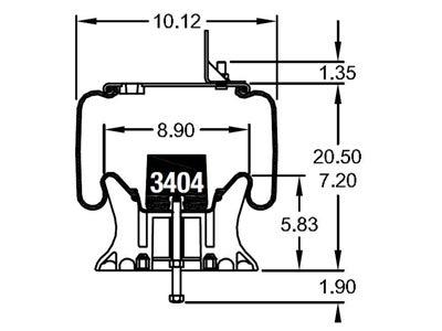 Firestone replacement air bag W01-358-9966 schematic diagram