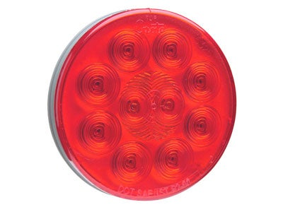 SuperNova 4 Inch 10-Diode Pattern LED Stop-Tail-Turn Lamp - Red 53252