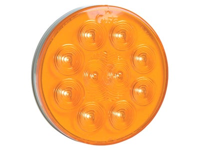 SuperNova 10-Diode Pattern LED Auxiliary Turn Lamp - Amber, 4 Inch 53253
