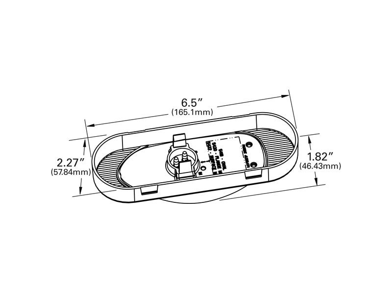 54183  grote amber supernova oval led side turn