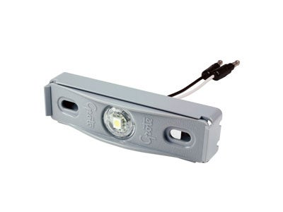 MicroNova LED License Lamp with Adaptor Bracket  - Gray 60711