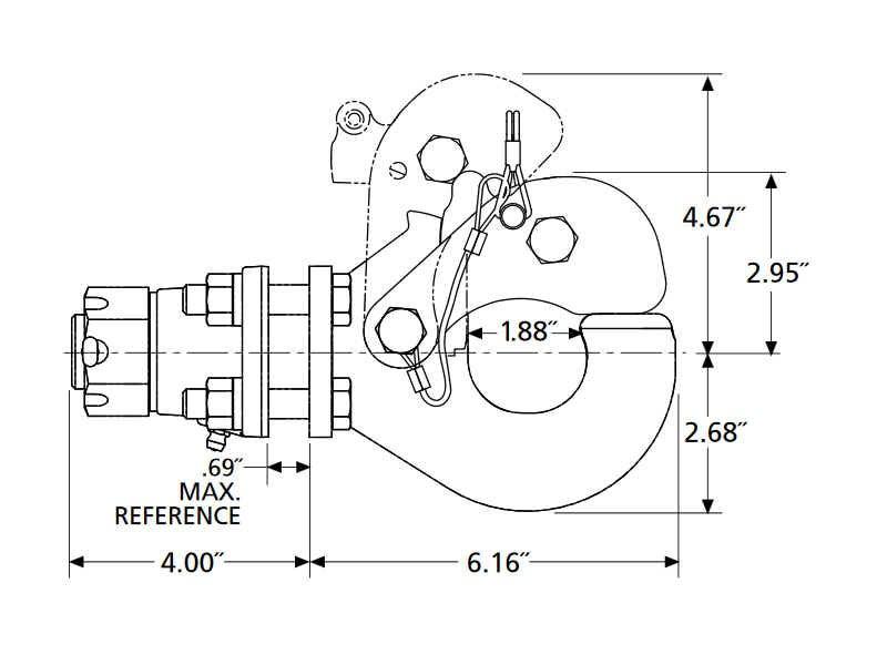 Holland 9 Ton Pintle Hook Ph T 60 Aos L 8