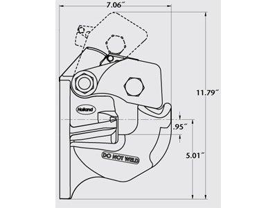 PH-410RN11 - Pintle Hook with FastLatch® - 50 Ton GTW