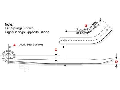Navistar-International Leaf Spring for Air Suspensions, Rear 55-1231