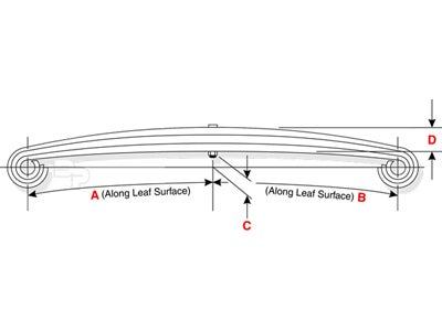 Mack Leaf Spring - 17,000 lbs. Capacity, Rear 62-267