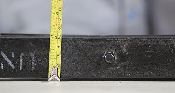 trailer spring width measurement