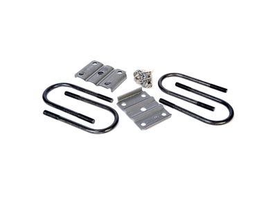 Trailer U-Bolt Kit for 3 inch wide Round Axle, 7 Inch Long, 1-3/4 or 2 Inch Spring, Plain Finish APUBR-8