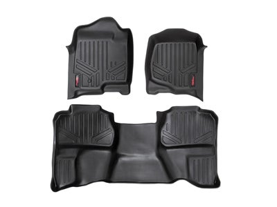 Rough Country Floor Mats for the Silverado, Sierra 1500, 2500HD, 3500HD Extended Cab - Front and Rear RCM-20712