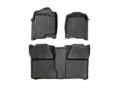 Rough Country Floor Mats for the Silverado, Sierra 1500, 2500HD, 3500HD Crew Cab - Front and Rear RCM-20713