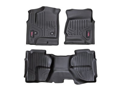 Rough Country Floor Mats for the Silverado, Sierra 1500, 2500HD, 3500HD Double Cab - Front and Rear RCM-21412