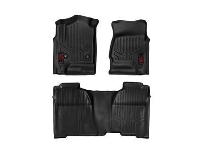 Rough Country Floor Mats for the Chevy Colorado, GMC Canyon Crew Cab - Front and Rear RCM-21513