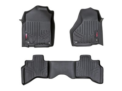 Rough Country Floor Mats for the Dodge Ram 1500 with Full Length Floor Console - Front and Rear RCM-31212