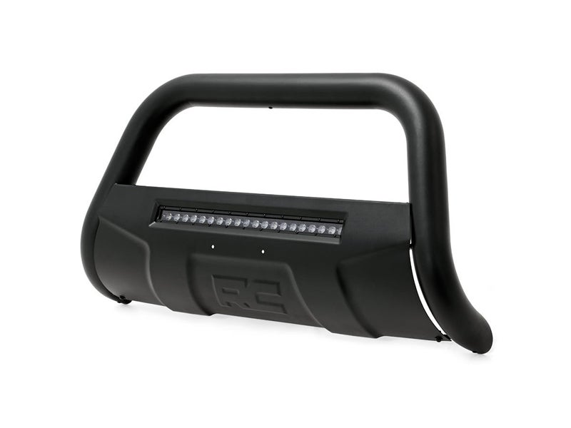 Rough Country Black Bull Bar with LED Light Bar for the 2009-2014 Dodge Ram  1500