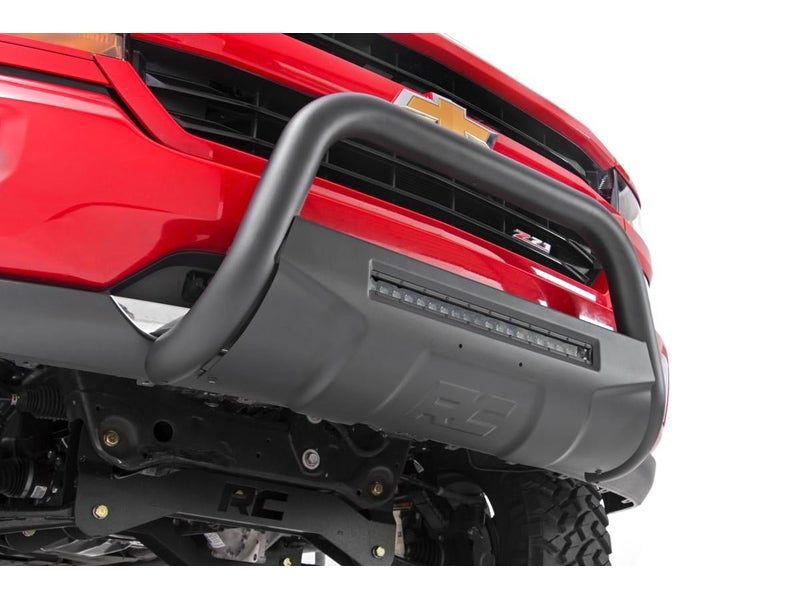 2016 Chevy Avalanche >> B-C4071, Rough Country Black Bull Bar with LED Light Bar