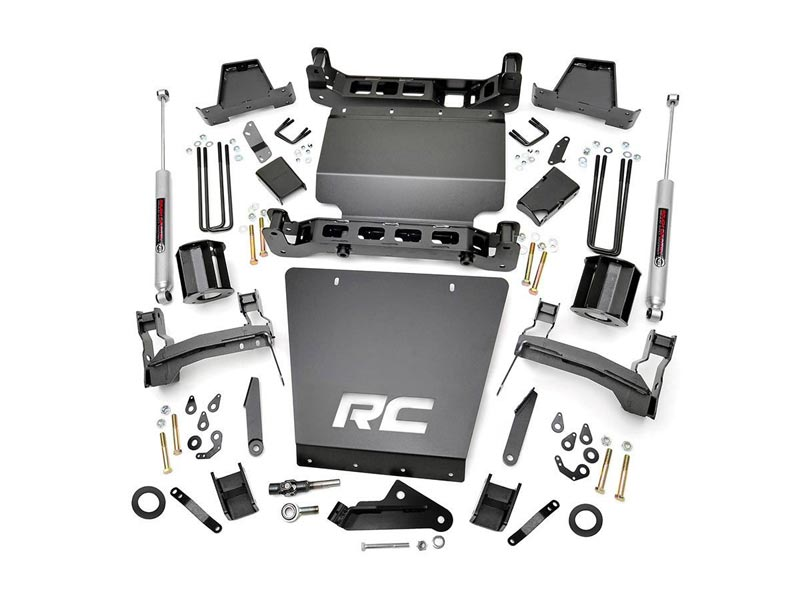 Rough Country 7 inch Suspension Lift Kit for the Chevy Silverado, GMC  Sierra 1500 with Factory Stamped Steel Control Arms, 4WD