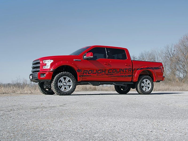4 Inch Lift Kit >> Rough Country 4 Inch Suspension Lift Kit For The Ford F 150 4wd