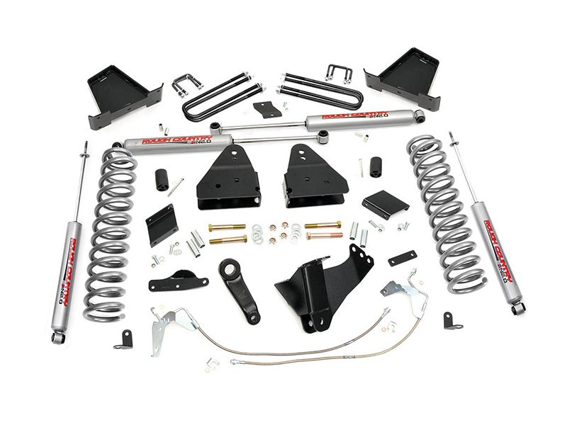 Rough Country 6 inch Suspension Lift Kit for the Ford F-250 4WD with  Factory Overload Spring - Gas Engine