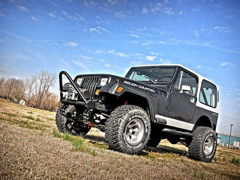 620n2 rough country 4 inch suspension lift kit for the jeep yj wrangler. Black Bedroom Furniture Sets. Home Design Ideas