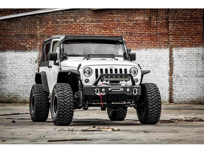 Rough Country 4 0 inch Suspension Lift Kit for the Jeep JK Wrangler with  Vertex Reservoir Shocks