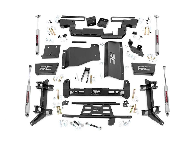 Rough Country 6 inch Suspension Lift Kit for the GM 2500, 3500 Pickup, 4WD