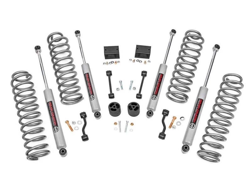 Suspension Lift Kit   Rough Country   2 5 Inch   Jeep