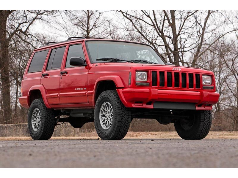 Lifted Jeep Cherokee >> 670xn2 Rough Country 3 Inch Series Ii Suspension Lift Kit For The