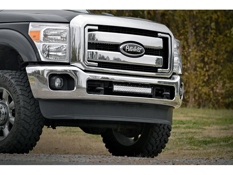 70524, Roough Country 20 inch LED Light Bar Hidden Bumper Mount for ...