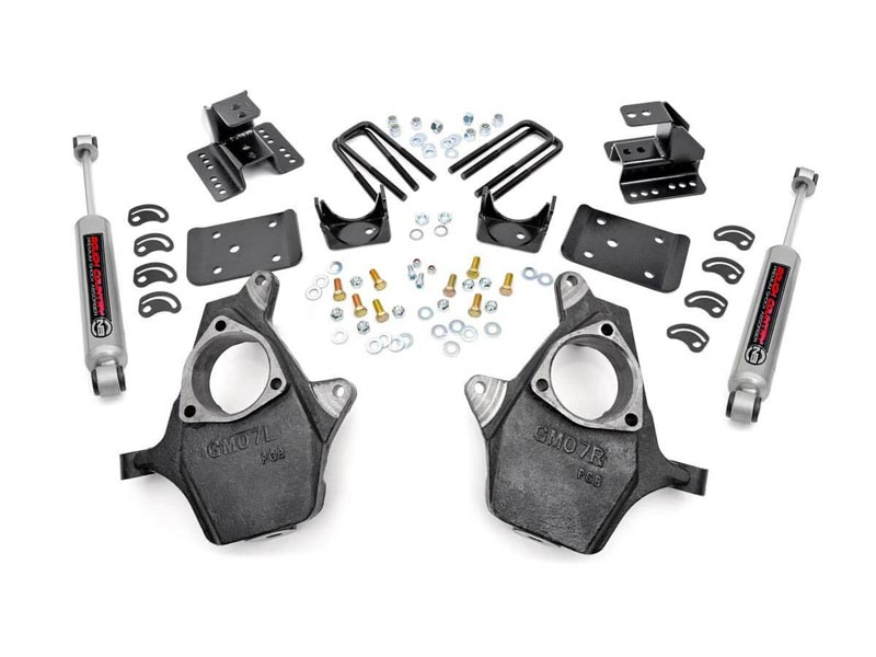 Rough Country 2 inch / 4 inch Lowering Kit for the Silverado, Sierra 1500  Pickup