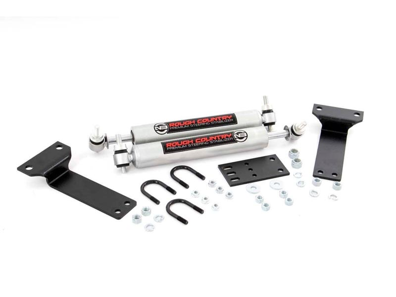 Rough Country Dual Steering Stabilizer for the Ford F-250, F-350, Excursion