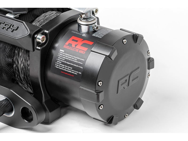 Rough Country Pro Series Electric Winch with Synthetic Rope and Remote -  12,000 lbs